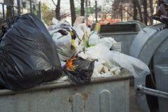 σύνολο δοχείων ανακύκλω Στοκ φωτογραφία με δικαίωμα ελεύθερης χρήσης