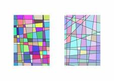 Σύνολο δύο κάθετων προτύπων με τις ανώμαλες γραμμές και τα ζωηρόχρωμα τεμάχια ελεύθερη απεικόνιση δικαιώματος