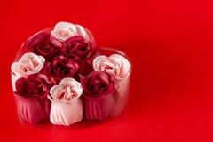 Σύνολο δώρων σαπουνιού Ημέρα βαλεντίνων, SPA στοκ εικόνες με δικαίωμα ελεύθερης χρήσης