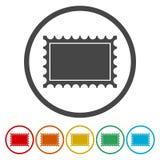Σύνολο εικονίδια γραμματοσήμων στο λευκό διανυσματική απεικόνιση