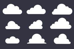 Σύνολο εικονιδίου σύννεφων διάνυσμα διανυσματική απεικόνιση