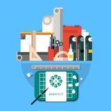 Σύνολο εικονιδίου Papercut Απεικόνιση αποθεμάτων
