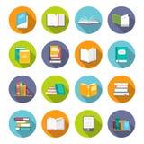 Σύνολο εικονιδίων βιβλίων ελεύθερη απεικόνιση δικαιώματος