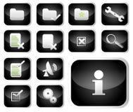σύνολο εικονιδίων γλωσσαριών Στοκ εικόνα με δικαίωμα ελεύθερης χρήσης