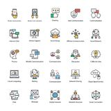 Σύνολο εικονιδίων δικτύων και επικοινωνίας Στοκ εικόνα με δικαίωμα ελεύθερης χρήσης