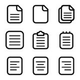 Σύνολο εικονιδίων εγγράφου, εικονίδια εγγράφων που απομονώνονται στο άσπρο υπόβαθρο επίσης corel σύρετε το διάνυσμα απεικόνισης 1 απεικόνιση αποθεμάτων