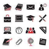 Σύνολο εικονιδίων εκπαίδευσης Στοκ Εικόνες