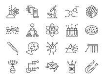 Σύνολο εικονιδίων επιστήμης στοιχείων Περιέλαβε τα εικονίδια ως αλγόριθμο χρηστών, μεγάλα στοιχεία, διαδικασία, επιστήμη, δοκιμή, ελεύθερη απεικόνιση δικαιώματος