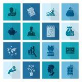 σύνολο εικονιδίων επιχ&epsil Στοκ εικόνες με δικαίωμα ελεύθερης χρήσης