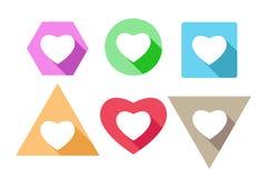 Σύνολο εικονιδίων καρδιών, διανυσματικό σχέδιο απεικόνιση αποθεμάτων