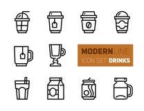Σύνολο εικονιδίων καφέ και τσαγιού - take-$l*away φλυτζάνια διανυσματική απεικόνιση