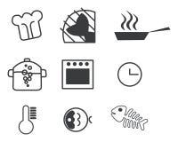 σύνολο εικονιδίων μαγειρέματος Στοκ φωτογραφίες με δικαίωμα ελεύθερης χρήσης