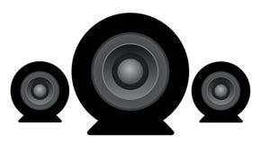 Σύνολο εικονιδίων ομιλητών στούντιο διανυσματική απεικόνιση