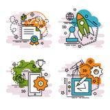 Σύνολο εικονιδίων περιλήψεων της καινοτομίας Στοκ εικόνες με δικαίωμα ελεύθερης χρήσης