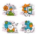 Σύνολο εικονιδίων περιλήψεων του πελάτη Στοκ Εικόνες