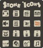 Σύνολο εικονιδίων πετρών μουσικής απεικόνιση αποθεμάτων