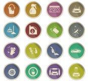 σύνολο εικονιδίων πλυντηρίων αυτοκινήτων διανυσματική απεικόνιση
