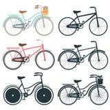 Σύνολο εικονιδίων ποδηλάτων Στοκ Εικόνες
