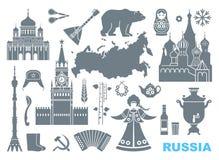Σύνολο εικονιδίων στο θέμα της Ρωσίας απεικόνιση αποθεμάτων