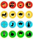 Σύνολο εικονιδίων του Four Seasons Στοκ εικόνες με δικαίωμα ελεύθερης χρήσης