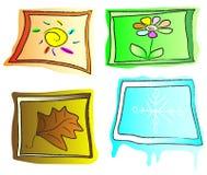 Σύνολο εικονιδίων του Four Seasons Απεικόνιση αποθεμάτων