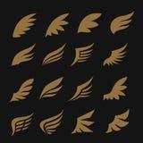 Σύνολο εικονιδίων φτερών Στοκ φωτογραφία με δικαίωμα ελεύθερης χρήσης