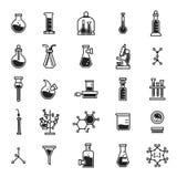 Σύνολο εικονιδίων χημείας, απλό ύφος διανυσματική απεικόνιση