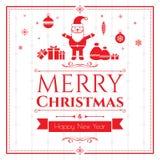 Σύνολο εικονιδίων Χριστουγέννων στο πράσινο υπόβαθρο Στοκ Εικόνες