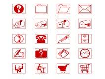 σύνολο εικονιδίων Στοκ φωτογραφίες με δικαίωμα ελεύθερης χρήσης