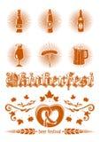 Σύνολο εικονιδίων Oktoberfest Στοκ Εικόνες