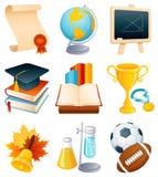 σύνολο εικονιδίων εκπαίδευσης Στοκ εικόνες με δικαίωμα ελεύθερης χρήσης