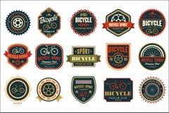 Σύνολο εκλεκτής ποιότητας λογότυπων ποδηλάτων Ακραίος αθλητισμός ανακύκλωσης Μοντέρνο τυπογραφικό σχέδιο για η λέσχη, το κατάστημ διανυσματική απεικόνιση