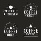 Σύνολο εκλεκτής ποιότητας προτύπων λογότυπων καφέ, διακριτικών και στοιχείων σχεδίου Συλλογή Logotypes για τη καφετερία, καφές, ε Στοκ εικόνα με δικαίωμα ελεύθερης χρήσης
