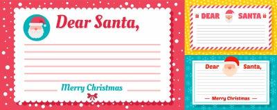 Σύνολο εμβλημάτων επιστολών Santa, επίπεδο ύφος ελεύθερη απεικόνιση δικαιώματος