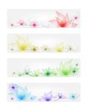 Σύνολο εμβλημάτων λουλουδιών Στοκ Εικόνα