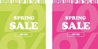 Σύνολο εμβλημάτων πώλησης άνοιξη μέχρι 70% μακριά απεικόνιση αποθεμάτων