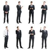 Σύνολο ενός νέου όμορφου επιχειρηματία που απομονώνεται στο λευκό Στοκ Φωτογραφίες