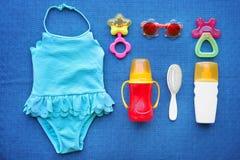 Σύνολο εξαρτημάτων παραλιών μωρών Στοκ Εικόνα