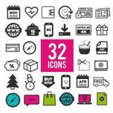 Σύνολο επίπεδων εικονιδίων για τον Ιστό και κινητό app στο άσπρο υπόβαθρο Σύγχρονα infographic λογότυπο και εικονόγραμμα συλλογής στοκ φωτογραφίες με δικαίωμα ελεύθερης χρήσης