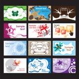 Σύνολο επαγγελματικών καρτών στα διαφορετικά θέματα απεικόνιση αποθεμάτων