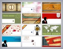 σύνολο επαγγελματικών καρτών ελεύθερη απεικόνιση δικαιώματος