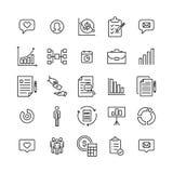 Σύνολο επιχειρησιακών εικονιδίων ασφαλίστρου στο ύφος γραμμών Στοκ εικόνες με δικαίωμα ελεύθερης χρήσης