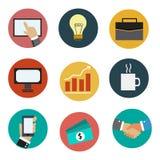 Σύνολο επιχειρησιακών εικονιδίων επιχειρησιακών εικονιδίων διανυσματική απεικόνιση