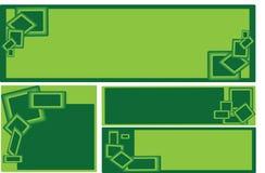 σύνολο επιχειρησιακών πράσινο ορθογωνίων εμβλημάτων Στοκ Φωτογραφίες