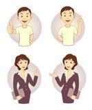 Σύνολο επιχειρησιακών προσώπων Gesturing ελεύθερη απεικόνιση δικαιώματος