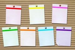 Σύνολο επτά χρωματισμένων ημέρες εγγράφων σημειώσεων Στοκ φωτογραφία με δικαίωμα ελεύθερης χρήσης