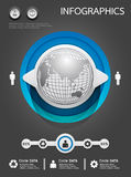 Σύνολο και πληροφορίες Infographics Στοκ Εικόνες