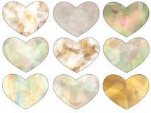 Σύνολο καρδιών Στοκ εικόνες με δικαίωμα ελεύθερης χρήσης