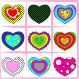 σύνολο καρδιών Στοκ φωτογραφίες με δικαίωμα ελεύθερης χρήσης