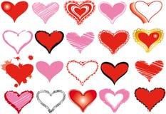 σύνολο καρδιών Στοκ Εικόνα